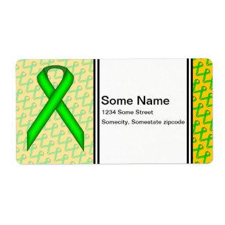 Cinta del estándar de la verde lima etiquetas de envío
