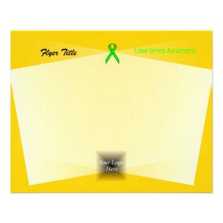 """Cinta del estándar de la verde lima folleto 4.5"""" x 5.6"""""""