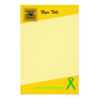 """Cinta del estándar de la verde lima folleto 5.5"""" x 8.5"""""""