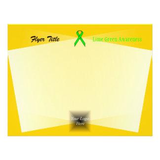 """Cinta del estándar de la verde lima folleto 8.5"""" x 11"""""""