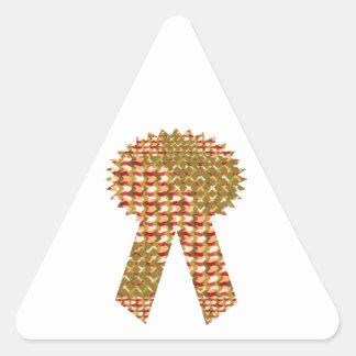 CINTA DEL GANADOR. TIENDA artística del PRECIO Pegatina Triangular