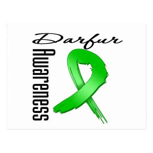 Cinta del Grunge de la conciencia de Darfur Tarjetas Postales