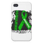 Cinta del Grunge de la conciencia de lesión de la  iPhone 4 Fundas