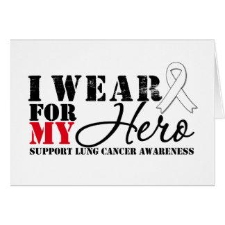 Cinta del héroe del cáncer de pulmón felicitaciones