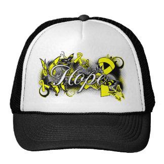 Cinta del jardín de la esperanza de la prevención  gorras