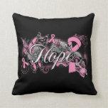 Cinta del jardín de la esperanza del cáncer de pec almohada