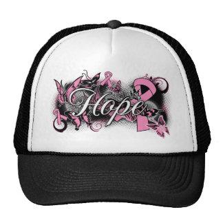 Cinta del jardín de la esperanza del cáncer de pec gorras