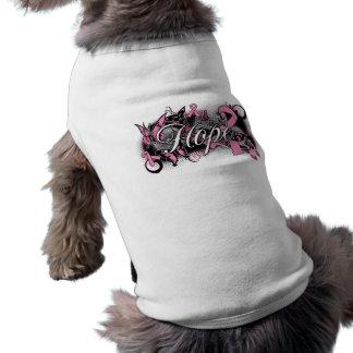 Cinta del jardín de la esperanza del cáncer de pec ropa para mascota