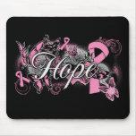 Cinta del jardín de la esperanza del cáncer de pec alfombrilla de raton