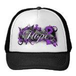 Cinta del jardín de la esperanza del lupus gorra