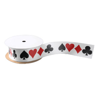 Cinta del jugador de tarjeta lazo de raso