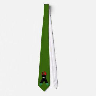 Cinta del lazo creciente del verde de la estrella corbatas