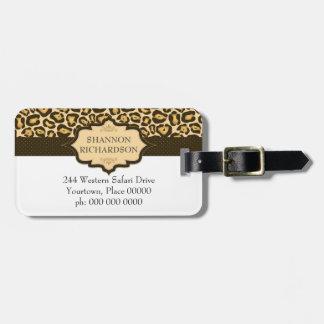 Cinta del leopardo de Jaguar Etiqueta Para Maleta