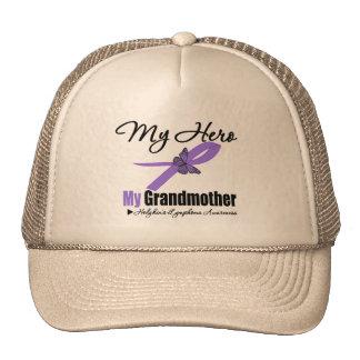 Cinta del linfoma de Hodgkins mi HÉROE mi abuela Gorras