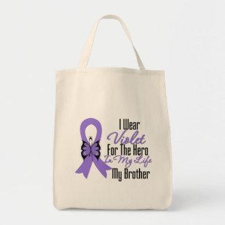 Cinta del linfoma de Hodgkins mi héroe mi Brother Bolsa De Mano
