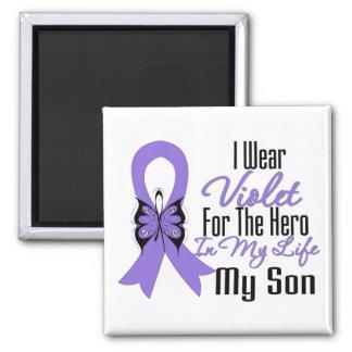 Cinta del linfoma de Hodgkins mi héroe mi hijo Imán Cuadrado