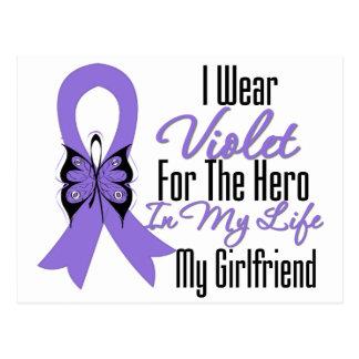 Cinta del linfoma de Hodgkins mi héroe mi novia Postal