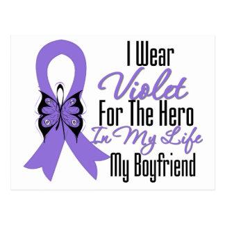 Cinta del linfoma de Hodgkins mi héroe mi novio Postal