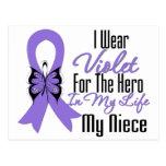 Cinta del linfoma de Hodgkins mi héroe mi sobrina Tarjeta Postal