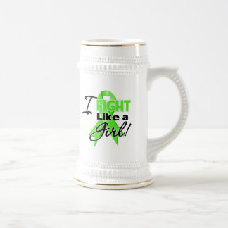 Cinta del linfoma - lucho como un chica tazas de café
