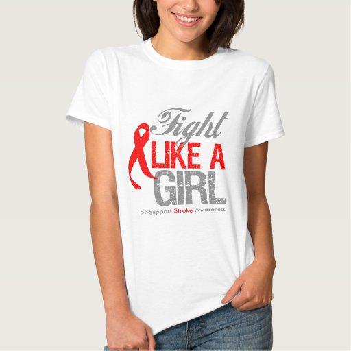 Cinta del movimiento - lucha como un chica tee shirt