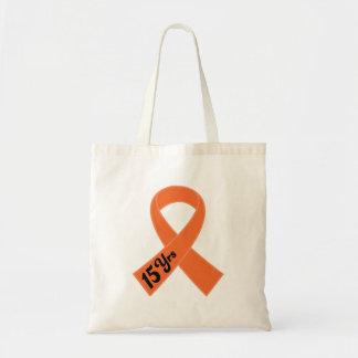 Cinta del naranja de la leucemia del superviviente bolsa de mano