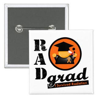 Cinta del naranja del CÁNCER del RIÑÓN del graduad Pin