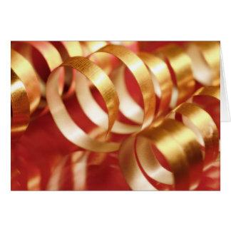 Cinta del navidad tarjeta de felicitación
