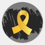 Cinta del oro del cáncer de la niñez con garabato etiqueta