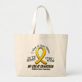 Cinta del oro del cáncer de la niñez para mi grand bolsa