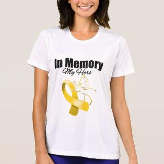 Cinta del oro en memoria de mi héroe camisetas
