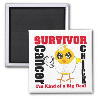 Cinta del polluelo del superviviente del cáncer de imán cuadrado