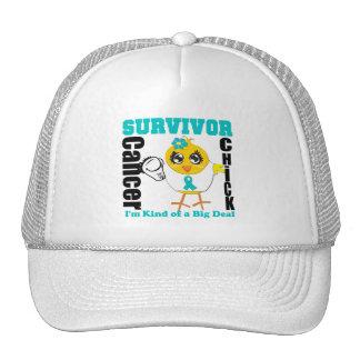 Cinta del polluelo del superviviente del cáncer ov gorro de camionero