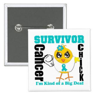 Cinta del polluelo del superviviente del cáncer ov pins