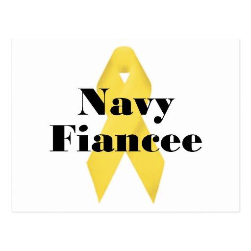 Cinta del prometido de la marina de guerra tarjetas postales