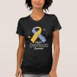 Cinta del psoriasis de mariposas camisetas