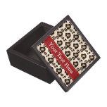 Cinta del rojo de la caja de regalo de la impresió cajas de joyas de calidad