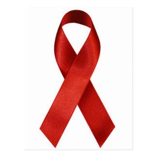 Cinta del rojo de la conciencia de HIV/AIDS Postal