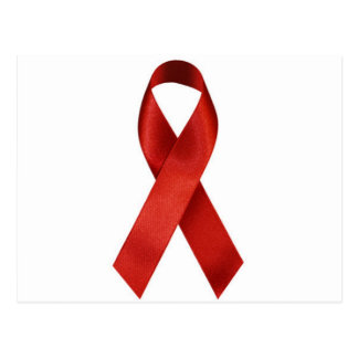 Cinta del rojo de la conciencia de HIV/AIDS Tarjeta Postal