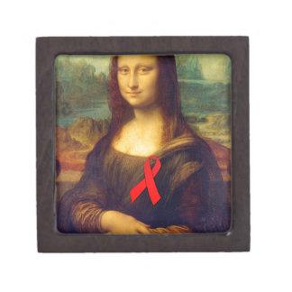Cinta del rojo de Mona Lisa Caja De Joyas De Calidad