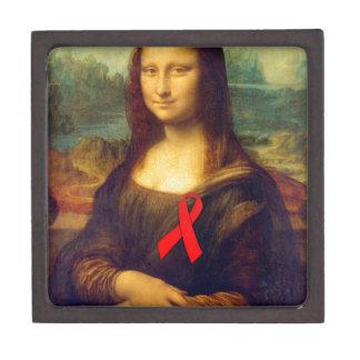 Cinta del rojo de Mona Lisa Caja De Recuerdo De Calidad