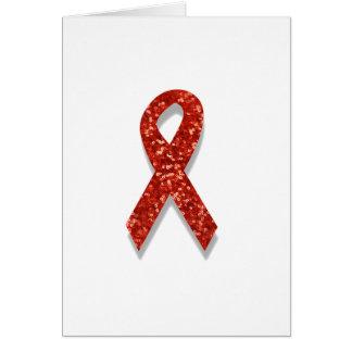 cinta del rojo del brillo tarjeta de felicitación