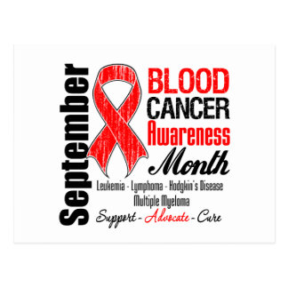 Cinta del rojo del mes de la conciencia del cáncer tarjeta postal