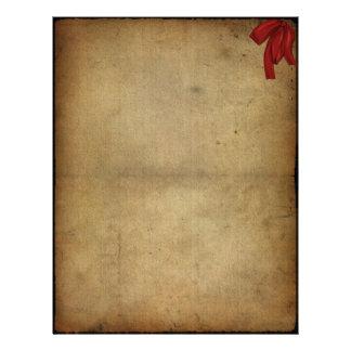 Cinta del rojo del vintage plantilla de membrete