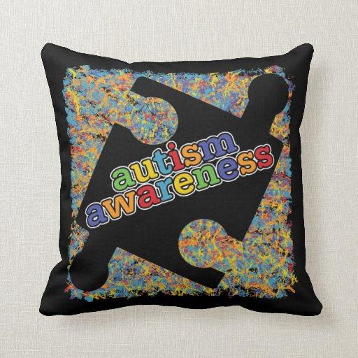 Cinta del rompecabezas de la salpicadura de la con almohada