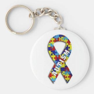 Cinta del rompecabezas del autismo llaveros personalizados