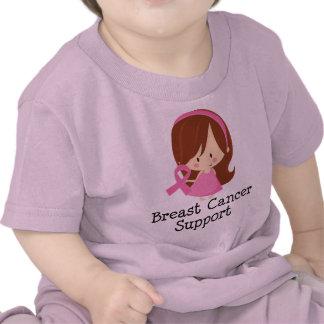 Cinta del rosa de la ayuda del cáncer de pecho camisetas