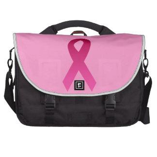 Cinta del rosa de la conciencia del cáncer de bolsas para portátil