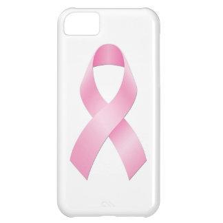 Cinta del rosa de la conciencia del cáncer de pech funda para iPhone 5C