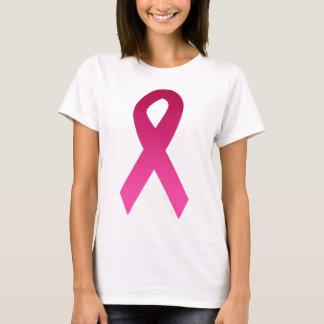 Cinta del rosa de la conciencia del cáncer de playera